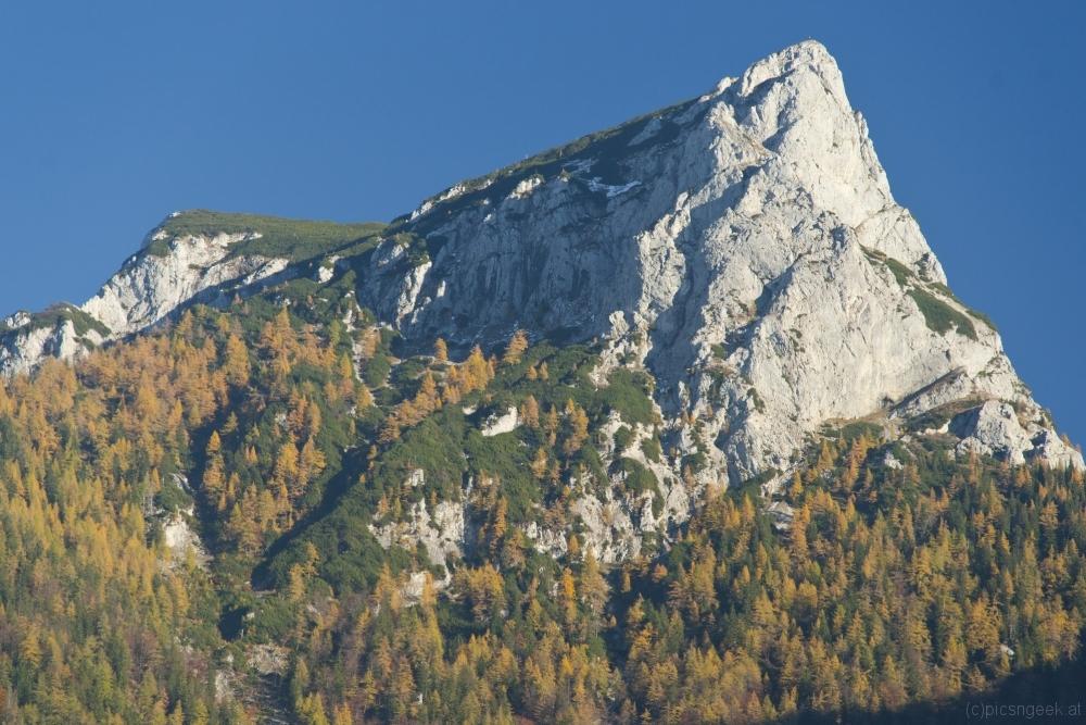 Strenitzkogel in autumn afternoon
