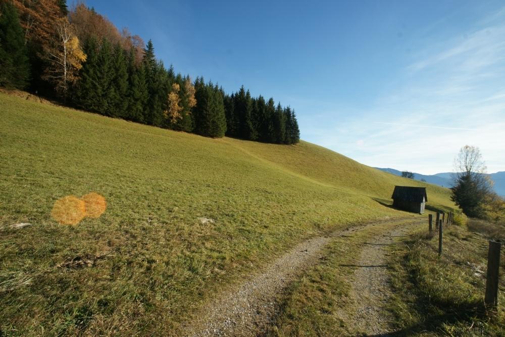 Mountainside hut