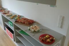 Kids food prepared for the break