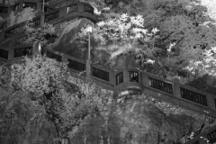 Stairs to Schlossberg with 720nm IR filter