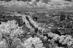 Downtown Graz with river Mur with 720nm IR filter