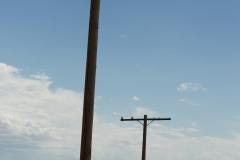 Way back, there was a road beneath the telegraph poles (Route 66)