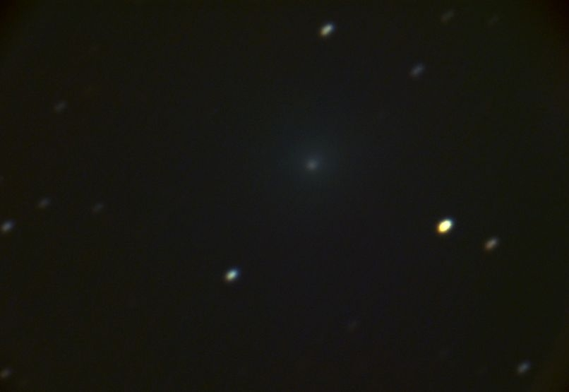 46P Wirtanen 2018-11-10 Sternwarte Steinberg 51cm RC A99II 27x 120x @ 3200ISO 4C - cropped scaled levels