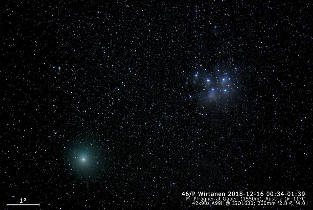 2018-12-15 46P Wirtanen und M45 - Gaberl 42x90s 25%