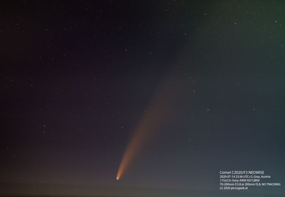 2020-07-14-C2020-F3-NEOWISE-Am-Arlandgrund-A99ii-70-200@200mm-f4.0-115x2.5s-ISO12800-levels-label