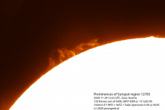 2020-11-29-1323-Prominences-of-Sunspot-region-12783-wavelet-level-colorized-label-50