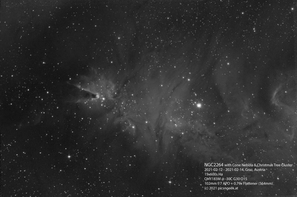 NGC2264-2021-02-1214-15x600s-Ha-QHY183M@-30C-564mm