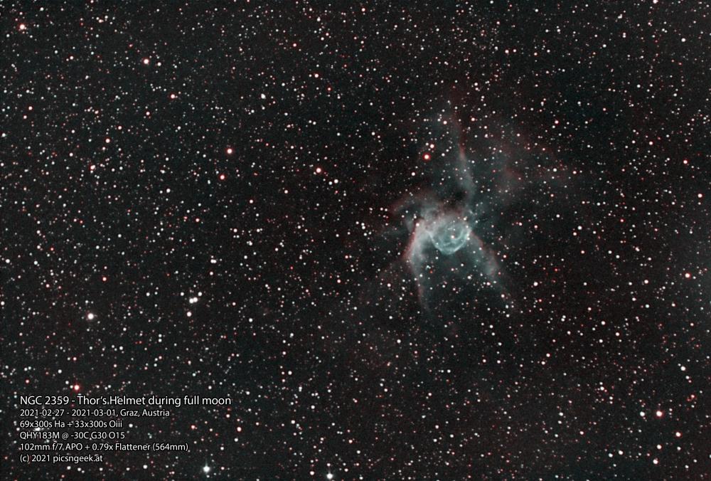 NGC-2359-2021-02-27-2021-03-01-69x300s-Ha-33x300s-Oiii-QHY183M@-30C-G30-O15-564mm-ABE-ACDNR-DECONV-MLT-HIST-Color